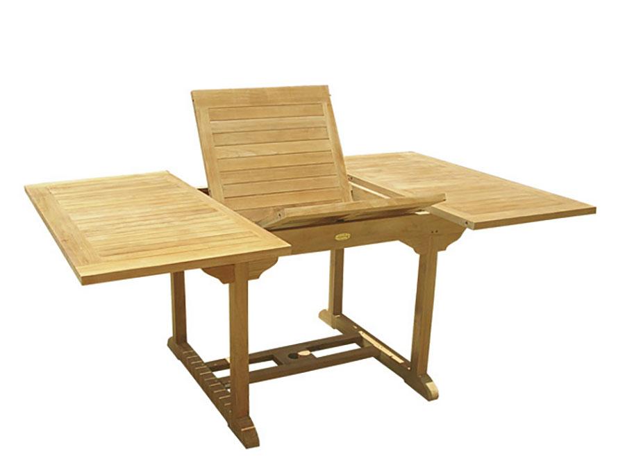 Extendable wooden garden table model n.10