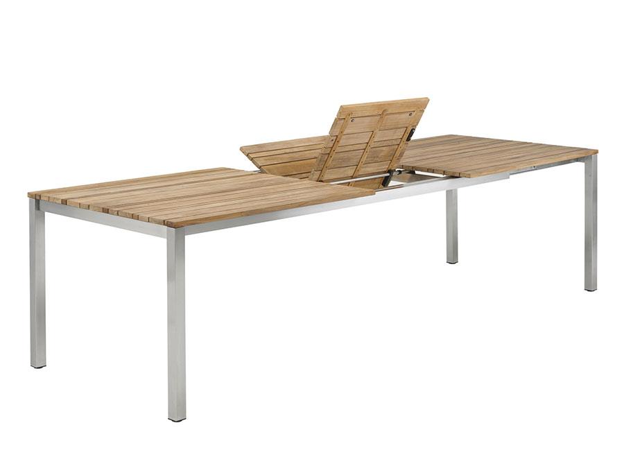 Extendable wooden garden table model n.05