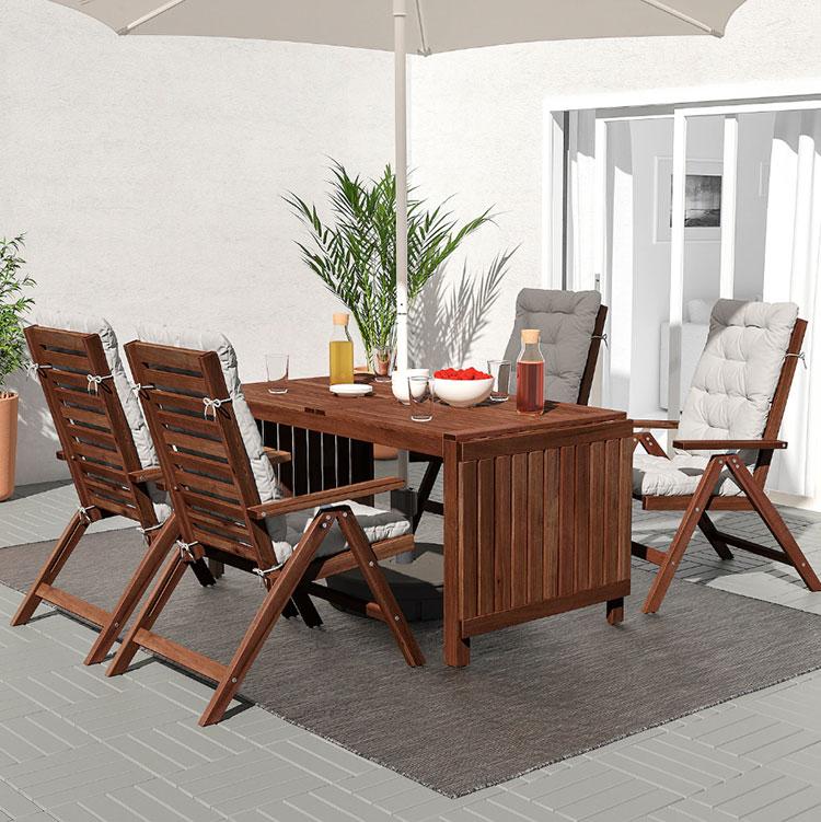 Ikea wooden garden table model n.03