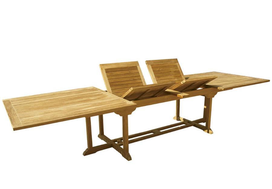 Extendable wooden garden table model n.08