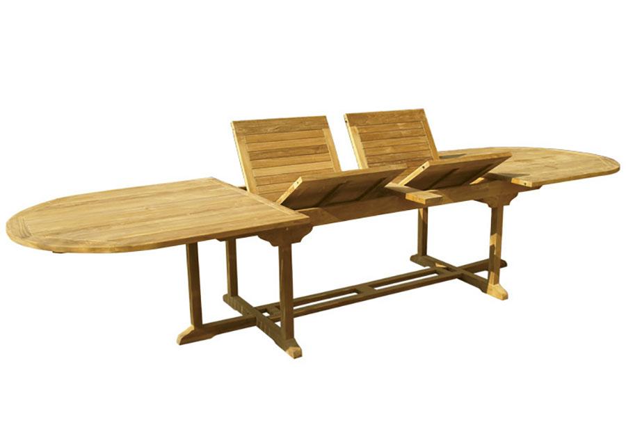 Extendable wooden garden table model n.09