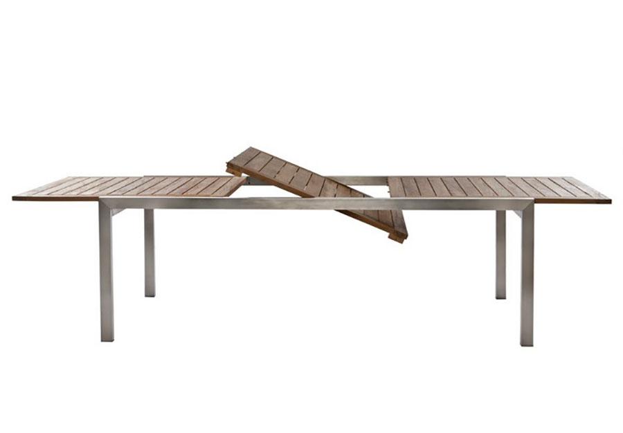 Extendable wooden garden table model n.07