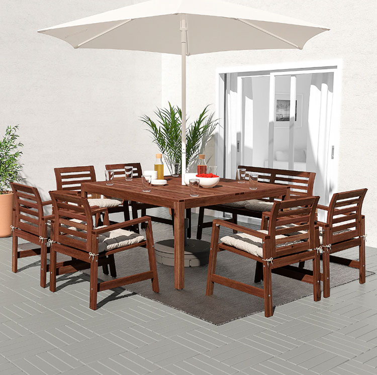 Ikea wooden garden table model n.02