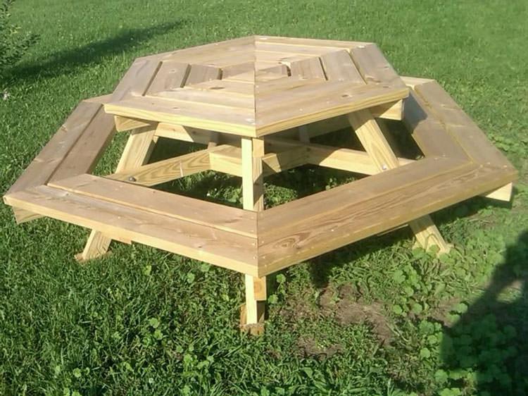 Photo of # 22 wooden garden table