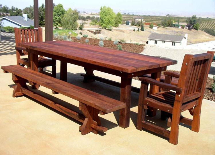 Photo of # 21 wooden garden table
