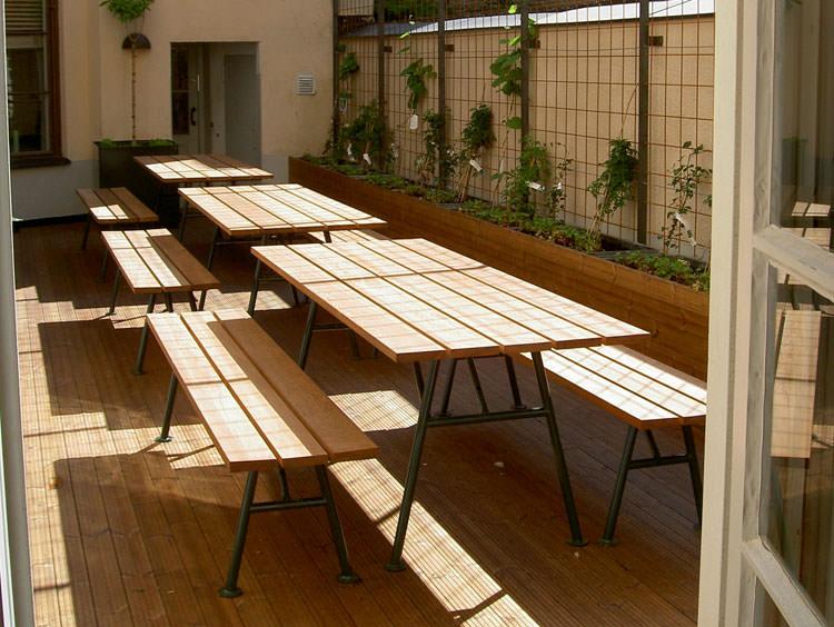 Photo of # 18 wooden garden table