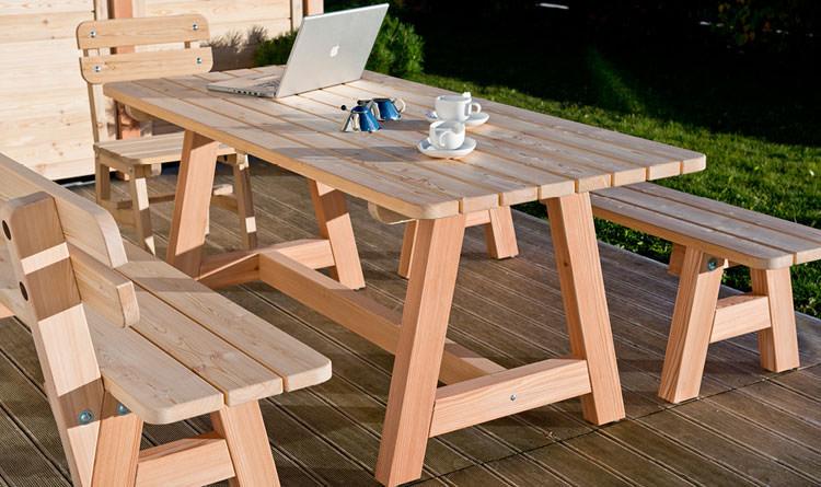 Photo of # 32 wooden garden table