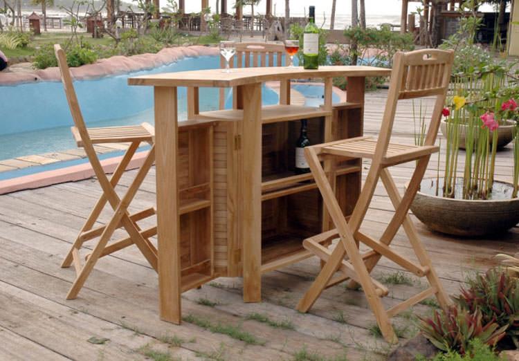 Photo of # 24 wooden garden table