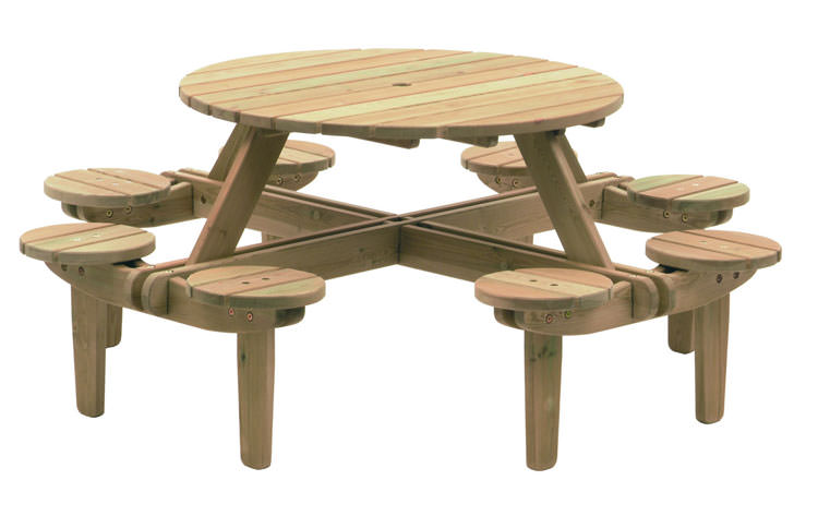 Photo of # 17 wooden garden table