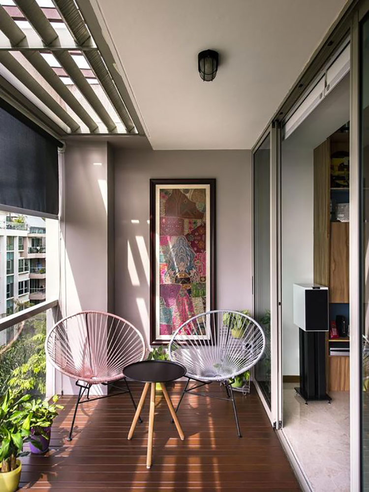 Ideas for decorating a small balcony n.10