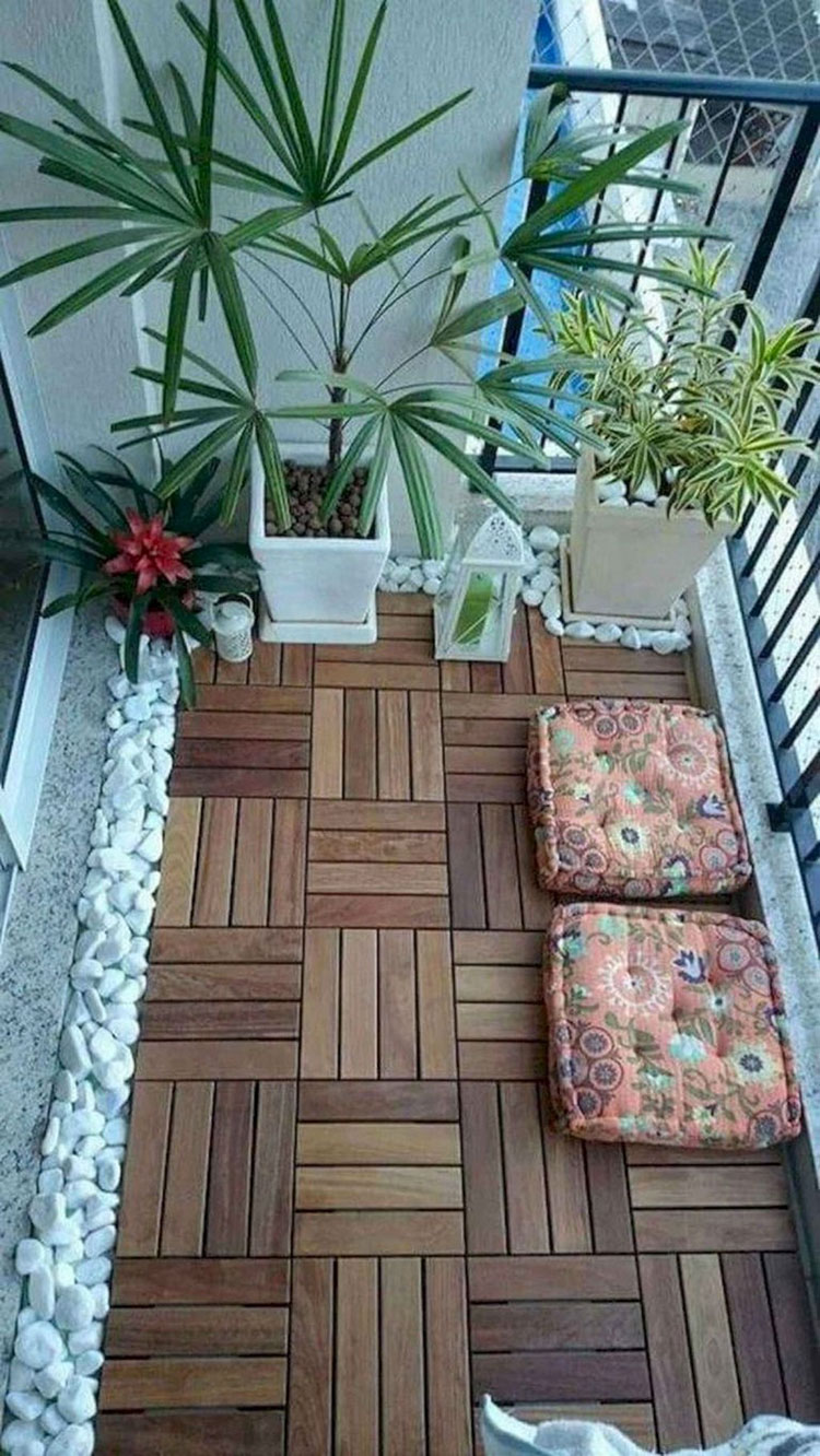 Ideas for decorating a small balcony n.07