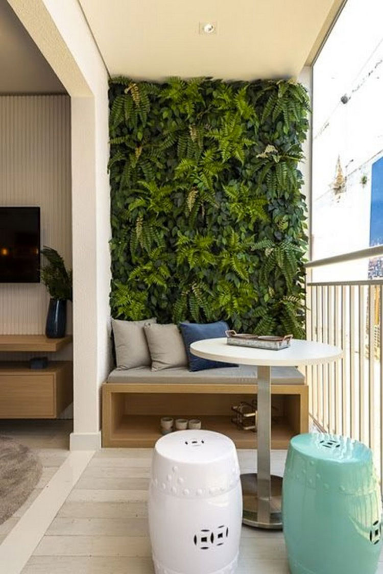Ideas for decorating a small balcony n.26