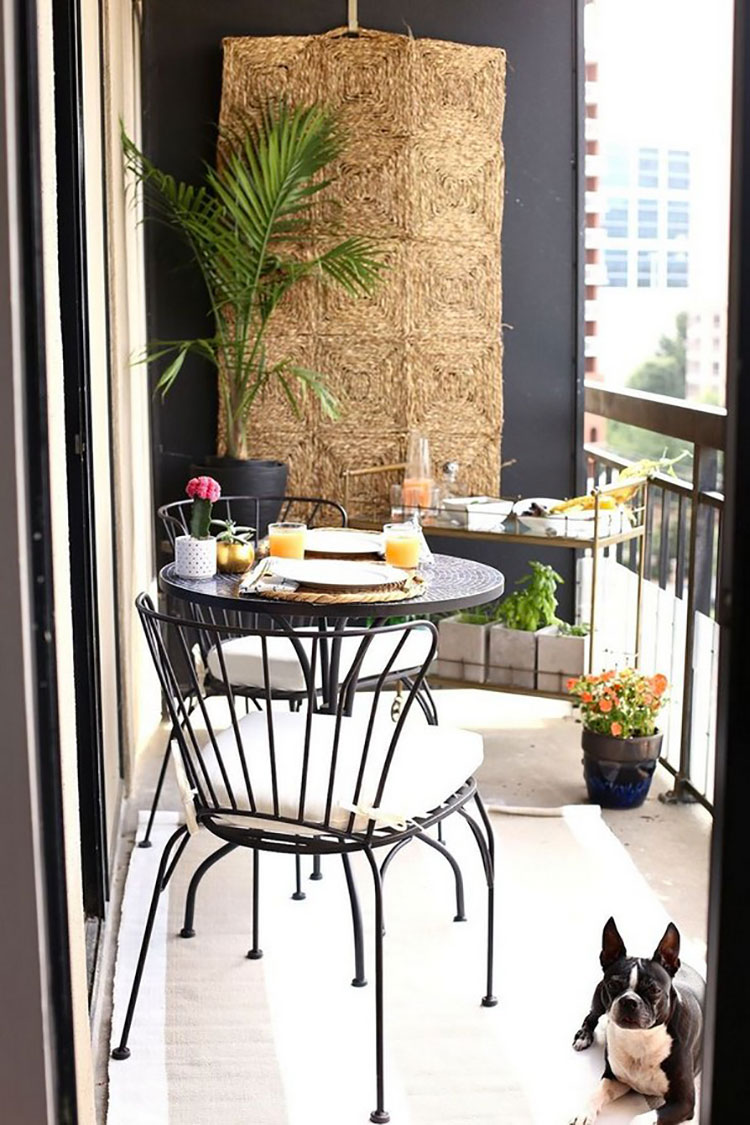 Ideas for decorating a small balcony n.19