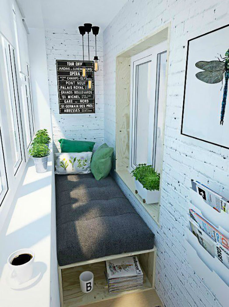 Ideas for decorating a small balcony n.21