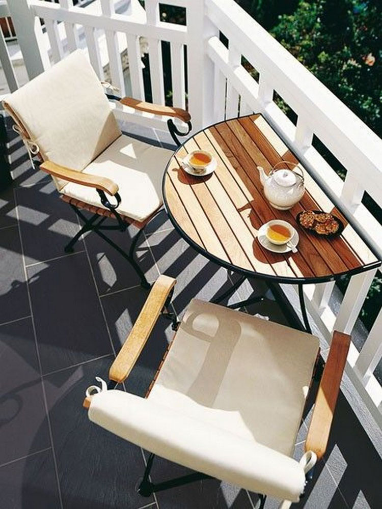 Ideas for decorating a small balcony n.13