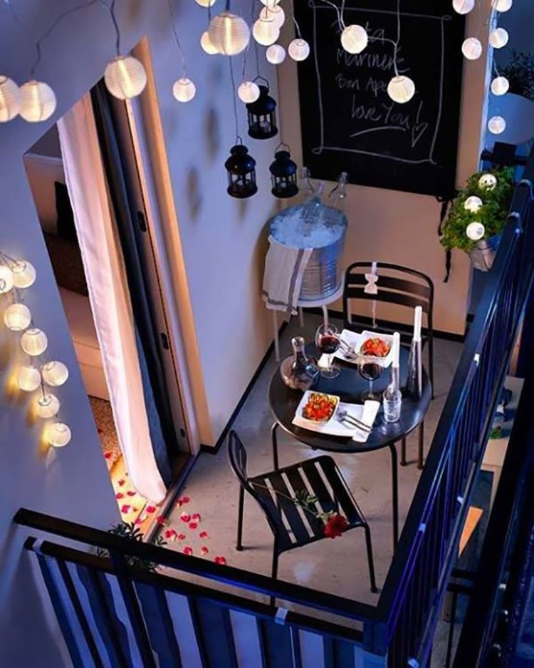 Ideas for decorating a small balcony # 18