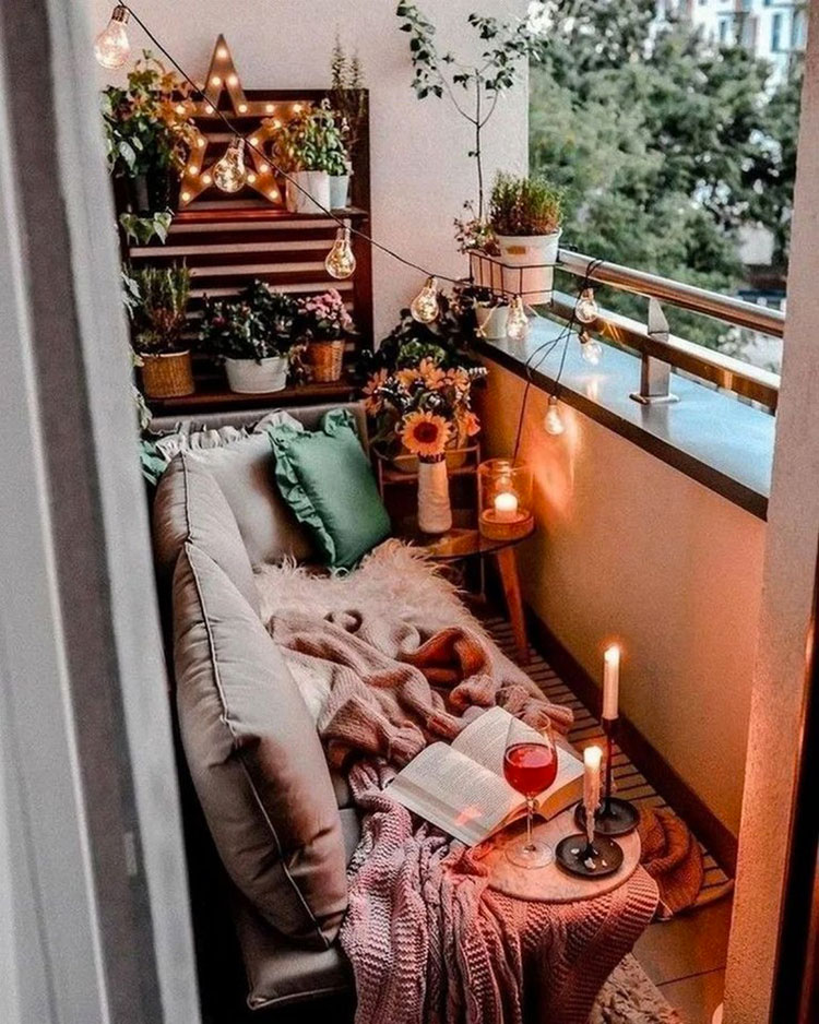 Ideas for decorating a small balcony n.20