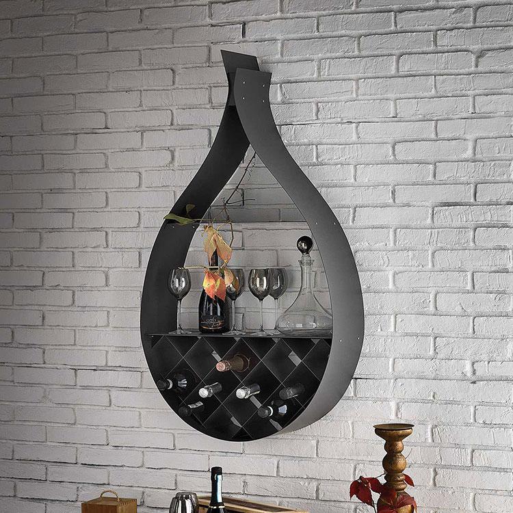 Wall mounted design bottle holder model 04