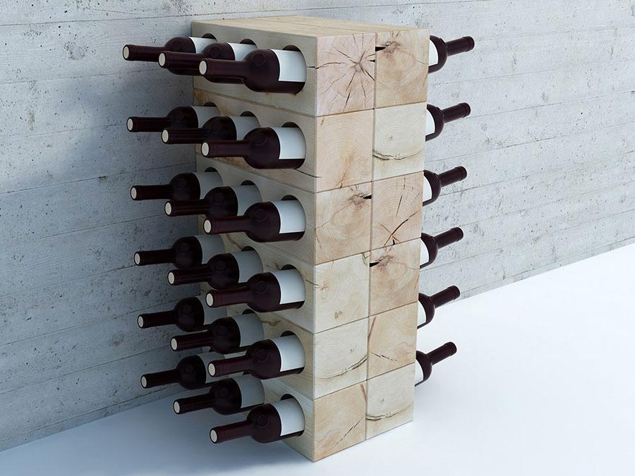 Design floor bottle holder model n.02