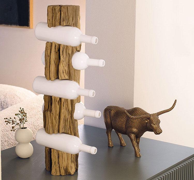 Table design bottle holder model n.05