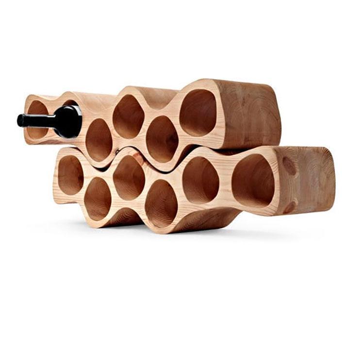 Table design bottle holder model n.04