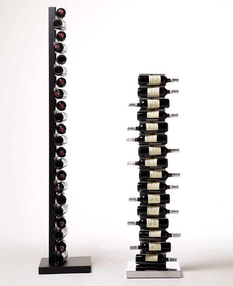 Design floor bottle holder model n.01