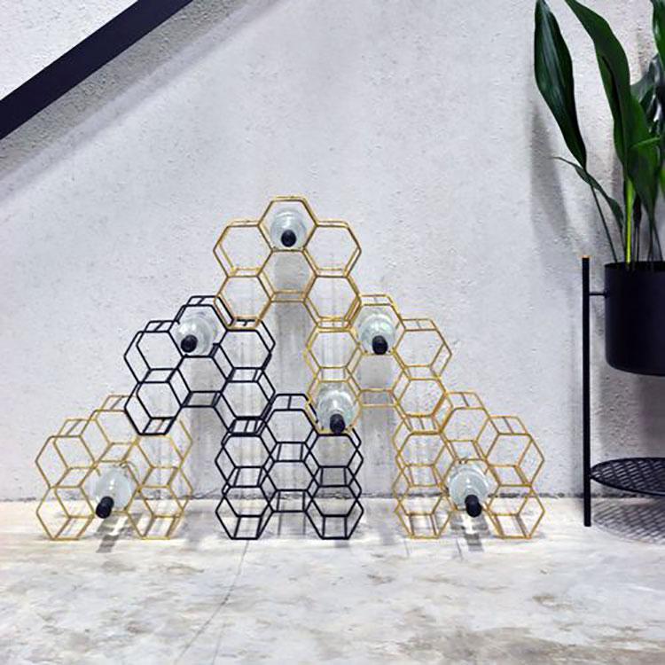 Design floor bottle holder model n.04