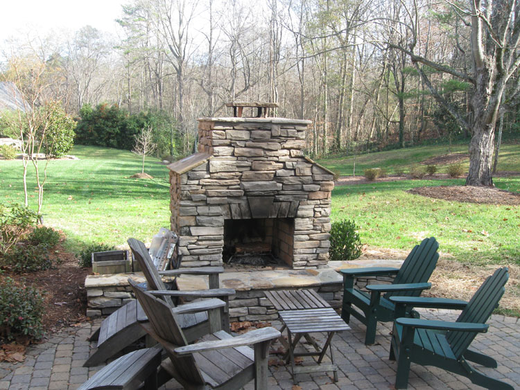 Photo of the garden fireplace # 02