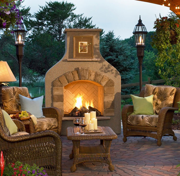 Photo of the garden fireplace # 06