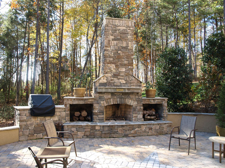 Photo of the garden fireplace # 04