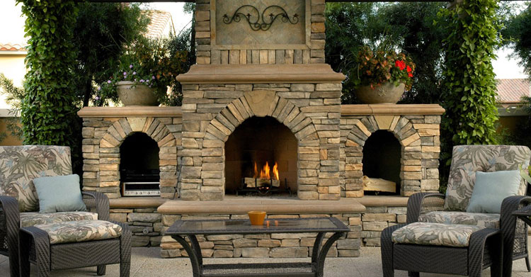Photo of the garden fireplace n.01