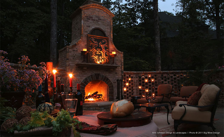 Photo of the garden fireplace n.05