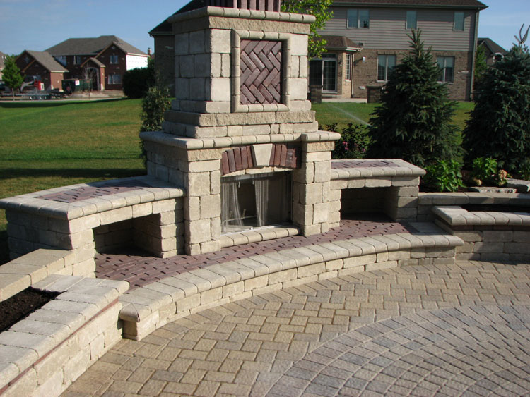 Photo of the garden fireplace # 17