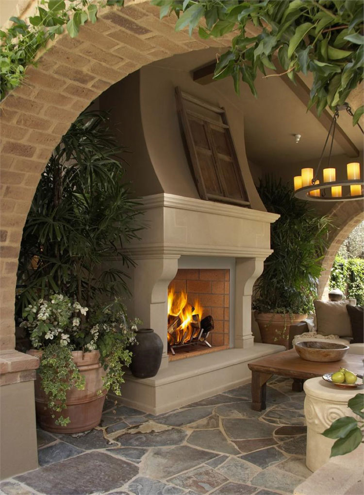 Photo of the garden fireplace # 28