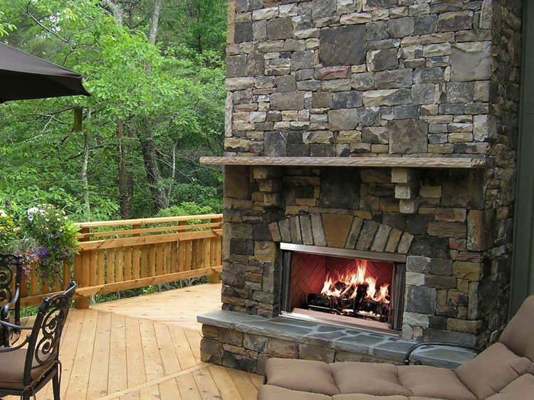 Photo of the garden fireplace # 08