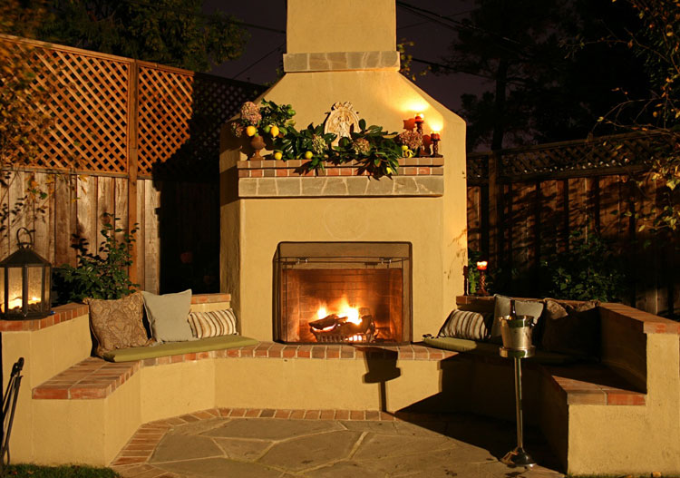 Photo of the garden fireplace # 13