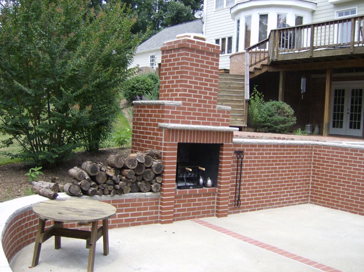 Photo of the garden fireplace # 34