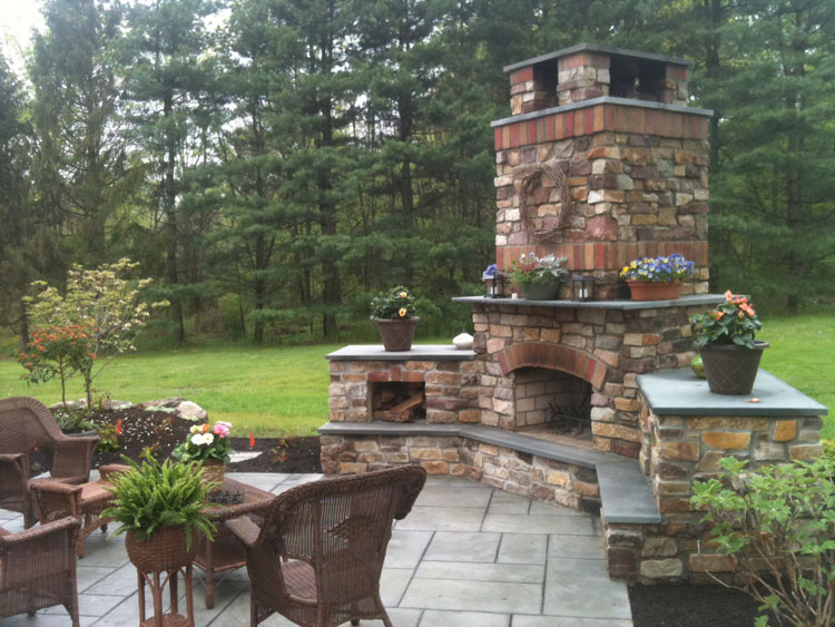 Photo of the garden fireplace # 16