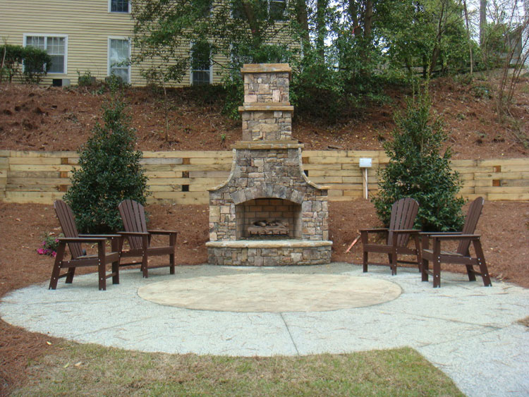 Photo of the garden fireplace # 14