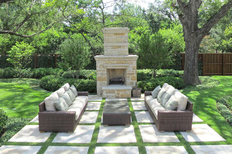Photo of the garden fireplace # 33