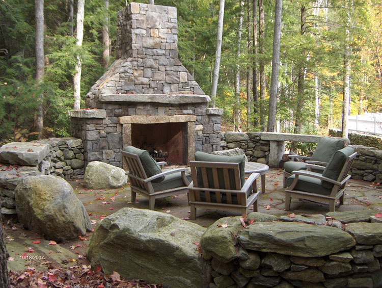 Photo of the garden fireplace # 18