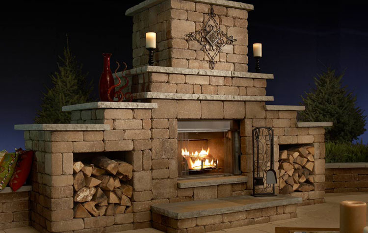 Photo of the garden fireplace n.09
