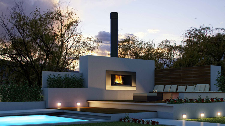 Photo of the garden fireplace # 23