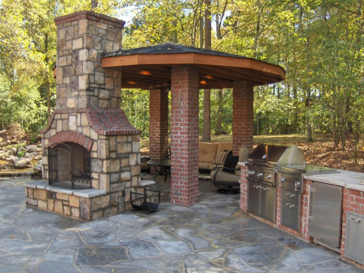Photo of the garden fireplace # 38