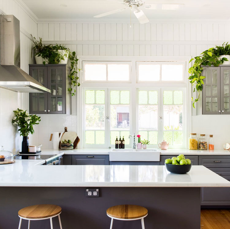 Ideas for decorating the kitchen with plants n.01
