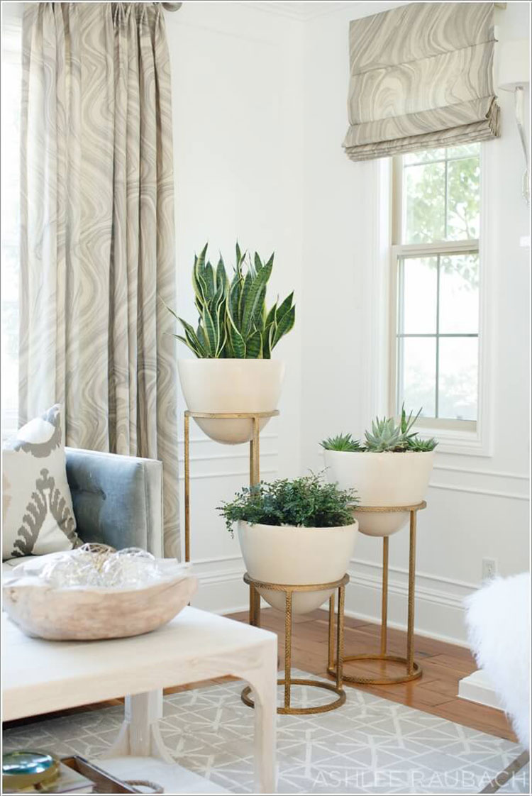 Risers for living room planters