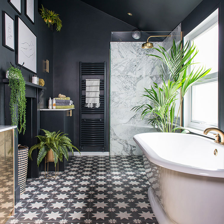 Ideas for decorating the bathroom with plants n.02
