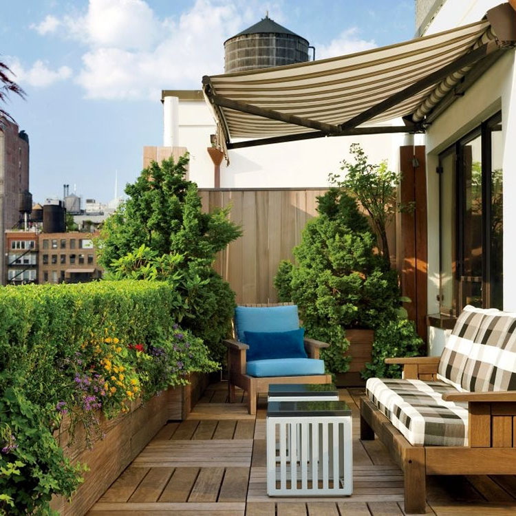 Ideas for decorating the terrace of an apartment n.08