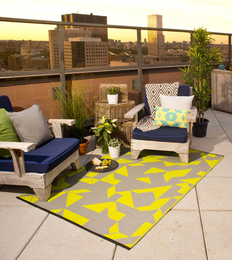 Ideas for decorating the terrace of an apartment n.04