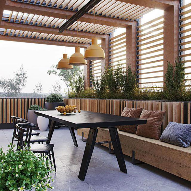 Ideas for decorating the terrace of an apartment 12